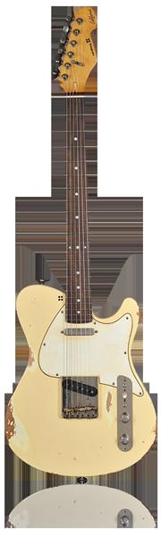 image of sandberg guitar Calfornia DC guitar in creme