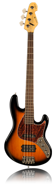 image of sandberg bass California T bass in brown